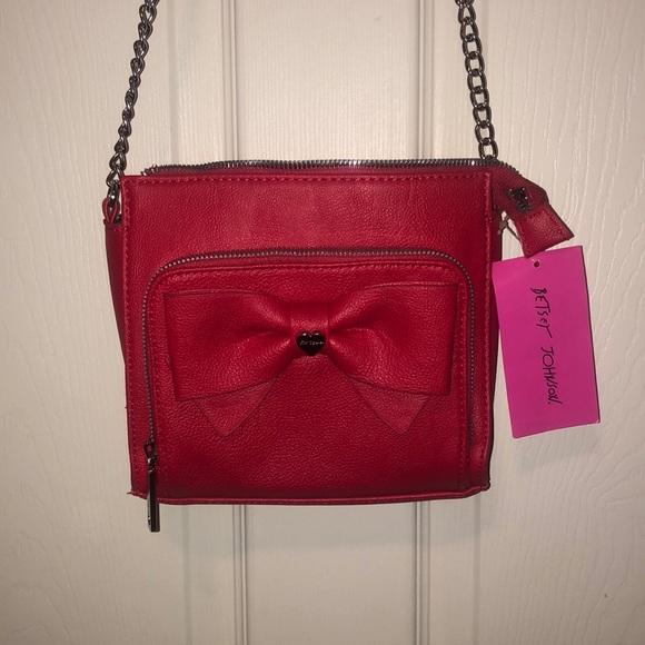 Betsey Johnson Handbags - Betsey Johnson Red Crossbody